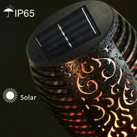 96 LED WATERPROOF SOLAR TORCH LIGHT GARDEN PATIO FLICKERING DANCING FLAME LAMP