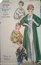 VINTAGE anni'50 anni'60 VOGUE 5463 Cappotto Stola Wrap Nozze Da Sera Da Sewing Pattern