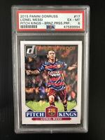 2015 Panini Donruss #17 Lionel Messi Pitch Kings BRONZE /199 PSA 6 EX-MT
