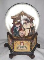 Kurt S Adler Musical Nativity Snow Globe (Silent Night Tune)