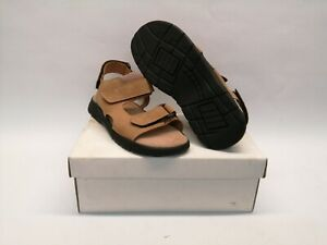 NEW British Army Sandals Tan Leather Warm Weather Beach Holiday