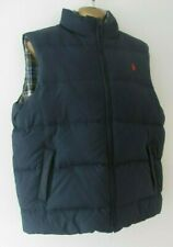 Mens RARE RALPH LAUREN POLO blue size ML reversible feather puffer gilet jacket