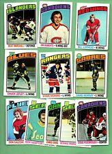 1976 Topps HOCKEY Set 11 Card Lot - NO DUPLICATES