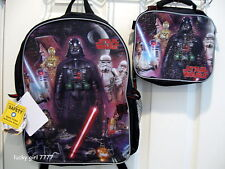 NWT Star Wars DARTH VADER C3PO R2D2 Luke Large BACKPACK & Lunch Tote Low C3PO
