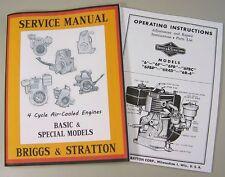 BRIGGS STRATTON 6 6R4D 6R-6 SERVICE REPAIR OWNER OPERATOR OPERATING PARTS MANUAL