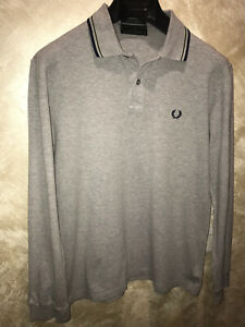 FRED PERRY maglia polo Manica Lunga Tg XL Special Edition