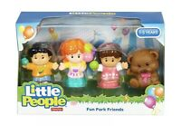 FISHER PRICE LITTLE PEOPLE FUN PARK FRIENDS 4 FIGURE Play Set Todler (12