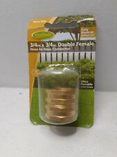 "Double Female Garden Hose Swivel / Connector 3/4"" x 3/4 New Sealed"