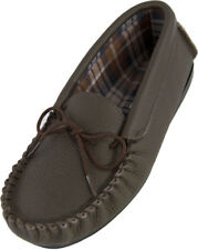 Lambland Mens - Ladies British Made Super Soft Genuine Leather Moccasin Slippers