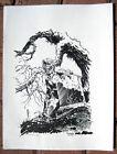 Tim Vigil Original Art C060 After Wrightson Inked 2003 Faust