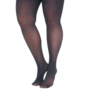 Catherines Tights Control Top Opaque Mariner Navy Blue Plus Size 5X - 6X