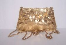 Purse Vintage Y & S Handbag Evening Crossbody Bag Gold Metal Mesh