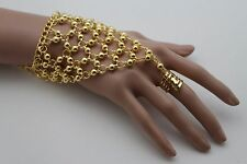 Women Bracelet Gold Metal Hand Chains Slave Ring Fashion Jewelry Belly Dancing