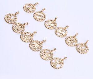 SALE Luxus Sternzeichen Kette 750er Gold 18K echt vergoldet  Schmuck Callissi