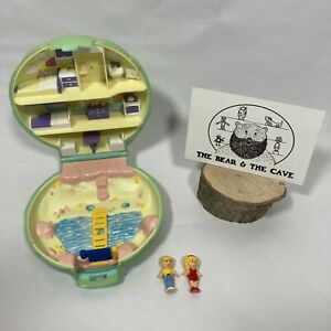 Vintage Polly Pocket Polly's Beach House 1989 Green Shell - 100% Complete *READ*