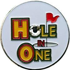 Swarovski Hole in One Achievement Golf Ball Marker with Matching Hat Clip