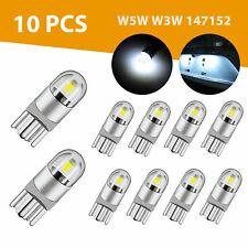 10X 6000K Canbus T10 168 194 W5W Dome License Side Marker LED Light Bulb White