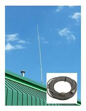 New Pt99 Procomm Proton Cb,Ham Base Antenna & 50 ft Rg8X Coax Cable 95% Shielded