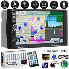 "7"" HD 2DIN Car Stereo MP3 MP5 Player GPS Nav Bluetooth Touch FM Radio USB/TF/AUX"