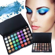 40 COLORES Perla Brillo Moda Sombra de ojos compacto Paletas Larga Duración