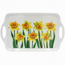 Daffodil Flower Design Large Melamine Food Lunch Tea Coffee Snack Serving Tray