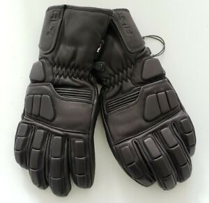 NWT POLO RALPH LAUREN MENS RACER GENUINE LEATHER GLOVES BLACK,XS/M #A