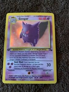 Pokemon WOTC TCG Fossil 1st Edition Holo Foil Card NM! - GENGAR