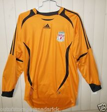 ADIDAS  Long Sleeve Orange Soccer  Shirt Jersey Men's Large