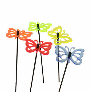 Butterfly Decorative Garden Ornaments 5x Decor Accessory Gift 19.7'' high Stakes