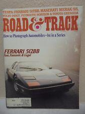 Road & Track Magazine March 1978 Ferrari 512BB Maserati Merak SS