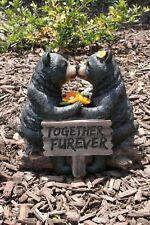 Black Bear Statue Couple in Love Statue Sculpture New