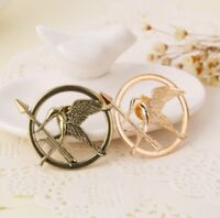Hunger Games Mockingjay Pin Badge Brooch Bronze Silver or Gold Colour