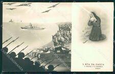 WW2 WWII Propaganda Esercito Santa Rita da Cascia Santino cartolina XF6832