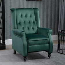 New ListingRecliner Chair Lounge Tufted Rivets Velvet Sofa Living Room Furniture Green New