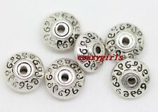 100pcs Tibet Silver handmade Jewelry Charm Spacer Beads 7x4mm(lead free)