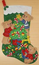Bucilla Felt Christmas Stocking Finished and Lined