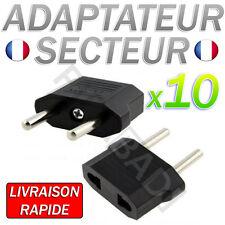 LOT DE 10 ADAPTATEUR SECTEUR US VERS PRISE EU FRANCE EUROPE VOYAGE USB EUROPE FR