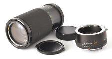 MC Soligor C/D Zoom+Macro 95-210mm F4.5 Lens & 2X Converter For Pentax K Mount!