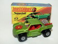 Matchbox Superfast No 13 Baja Buggy PINKISH RED INTERIOR VNMIB VERY RARE