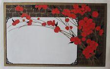 Fleurs Gouache originale ART DECO circa 1920 Atelier PICHON Projet de MENU