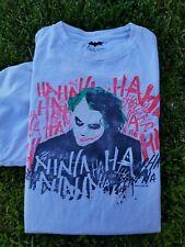 2008 Vintage The Dark Knight Heath Ledger Joker Movie promo T Shirt Large Tee