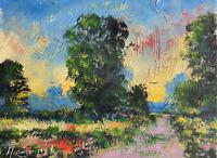 dirt tract beautiful impressionist original painting landscape Semberecki