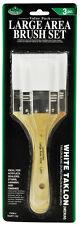 Grundierpinselset weißer Taklon 3-teilig flach Royal & Langnickel