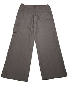 Patagonia Hiking Pants Women Size 10 Cotton Taupe Lightweight Camping Outdoor