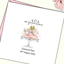 """Personalised Wedding Day Congratulations Card  6"""" sq"""