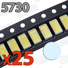25x LED SMD5730 BLANCO FRIO 150mA brillo smd 5730 white cool