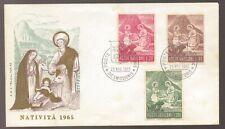1965 Poste Vaticane Vatican Nativita Christmas Unused FDC