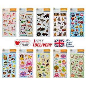 Fun Stickers Birthday Party Loot Bag Fillers Kids Decorating 3 Sheet CDU Pack B