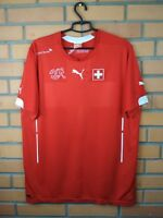 Switzerland Jersey 2014 2015 Home MEDIUM Shirt Football Puma Trikot Maglia