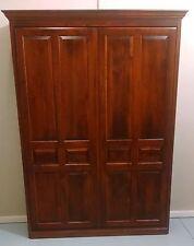 Custom Built High Quality Wood Raised Panel Murphy Bed FULL Size